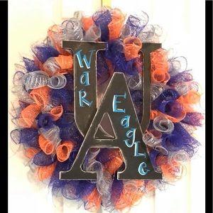 Auburn deco mesh wreath